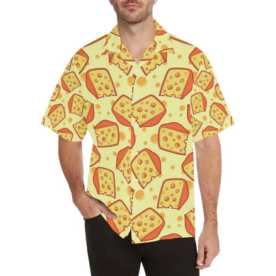 Cheese Pattern Men's All Over Print Hawaiian Shirt