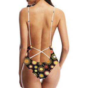Colorful Sun Pattern Women's One-Piece Swimsuit