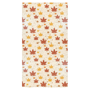 Red and Orange Maple Leaves Pattern Bath Towel