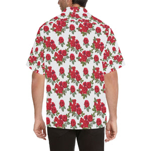 Rose Pattern Print Design 05 Men's All Over Print Hawaiian Shirt (Model T58)