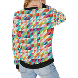 Rainbow Geometric Pattern Women's Crew Neck Sweatshirt