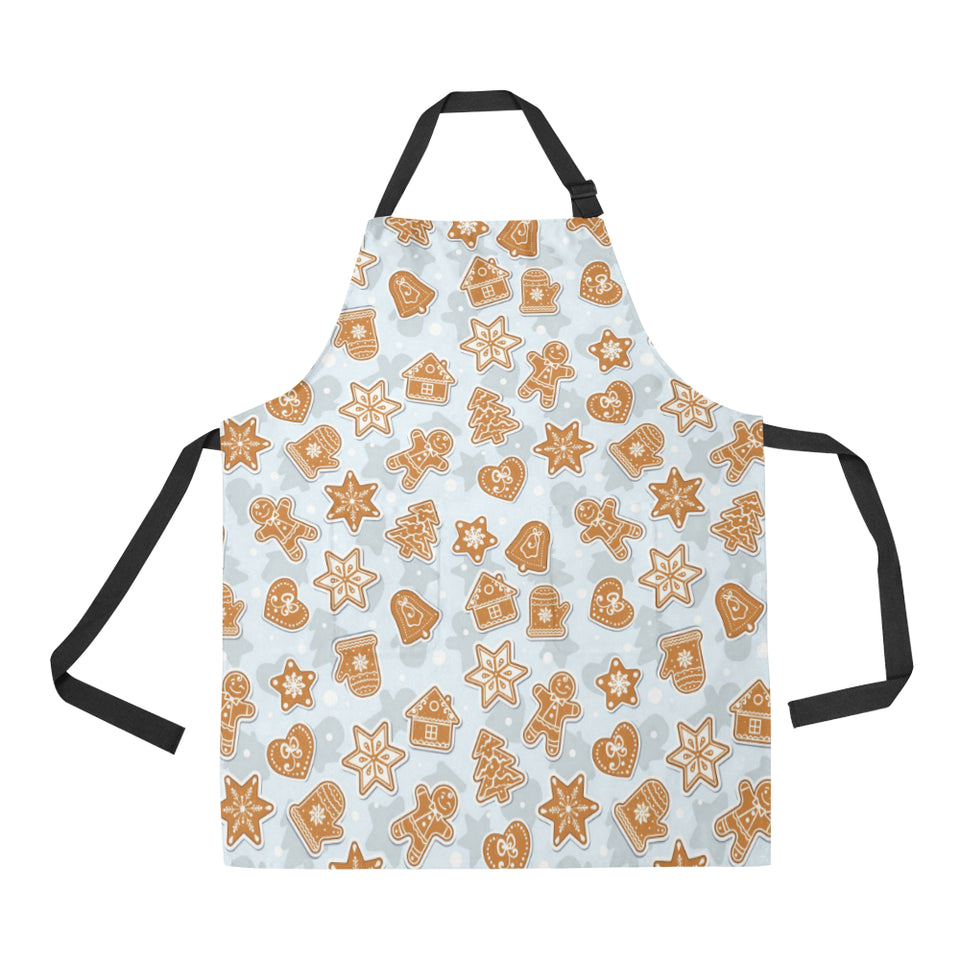 Christmas Gingerbread Cookie Pattern background Adjustable Apron