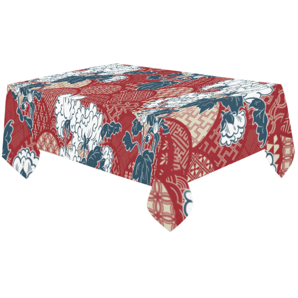 Red Theme Japanese Pattern Tablecloth