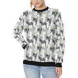 Zebra Pattern Women's Crew Neck Sweatshirt