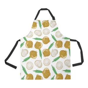Onion Pattern Background Adjustable Apron
