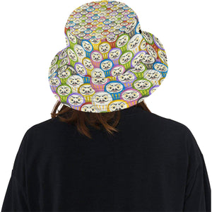 Colorful Daruma Pattern Unisex Bucket Hat