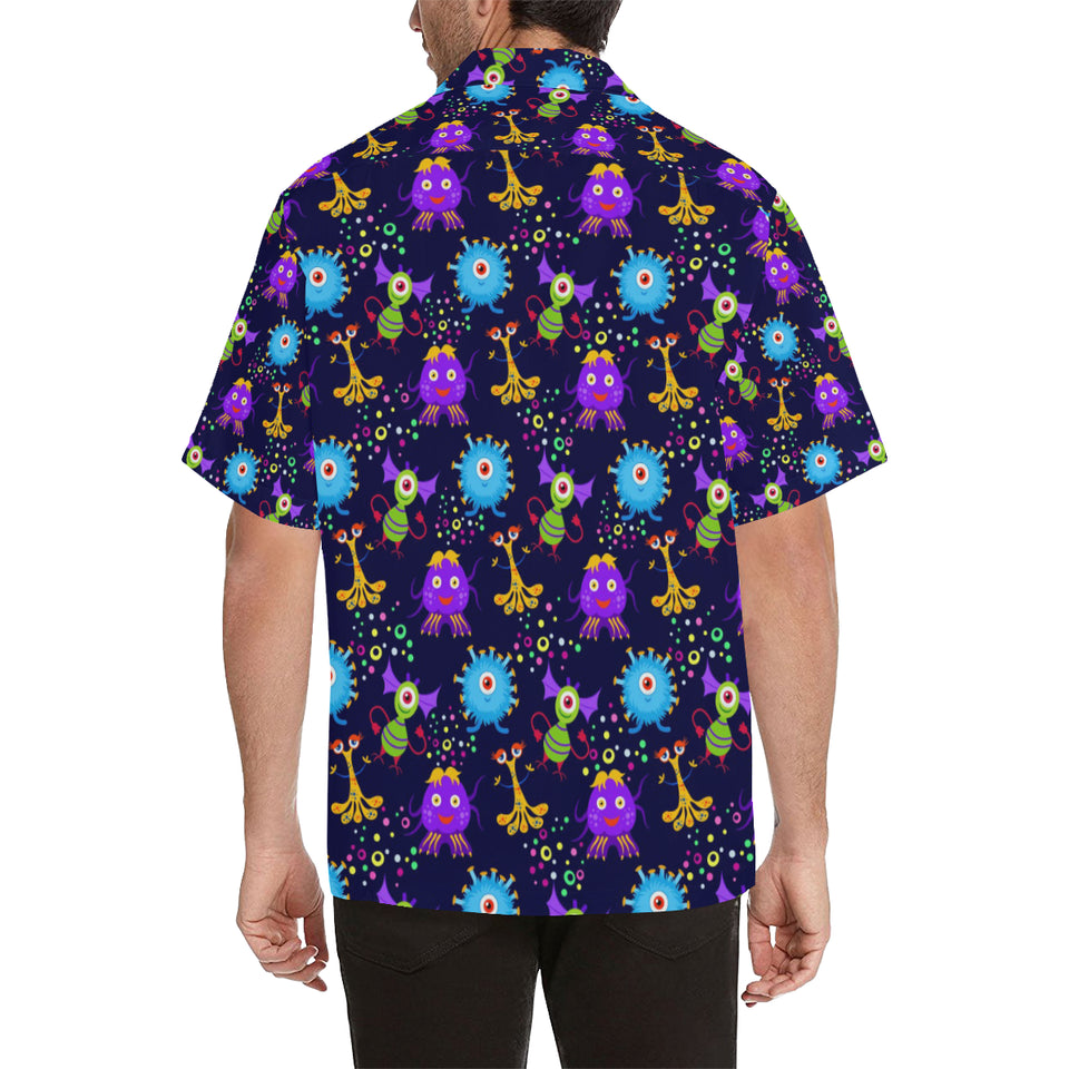 Alien Pattern Print Design 01 Men's All Over Print Hawaiian Shirt (Model T58)