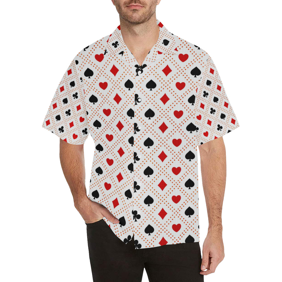 Casino Cards Suits Pattern Print Design 04 Men's All Over Print Hawaiian Shirt (Model T58)
