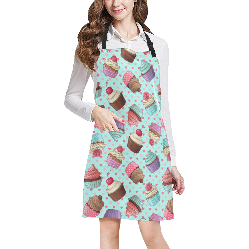 Cup Cake Heart Pattern Adjustable Apron