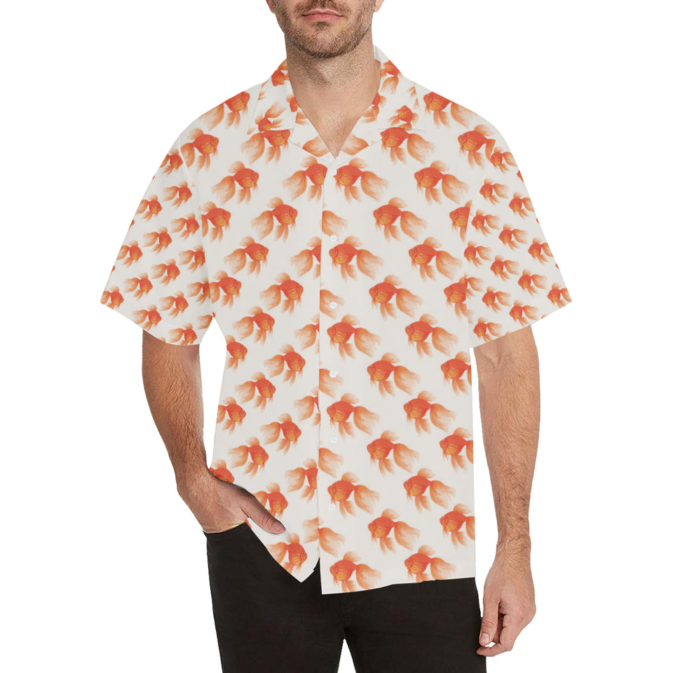 Goldfish Pattern Print Design 05 Men's All Over Print Hawaiian Shirt (Model T58)