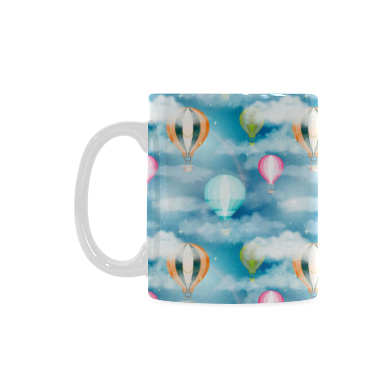 Hot Air Balloon in Night Sky Pattern Classical White Mug (FulFilled In US)