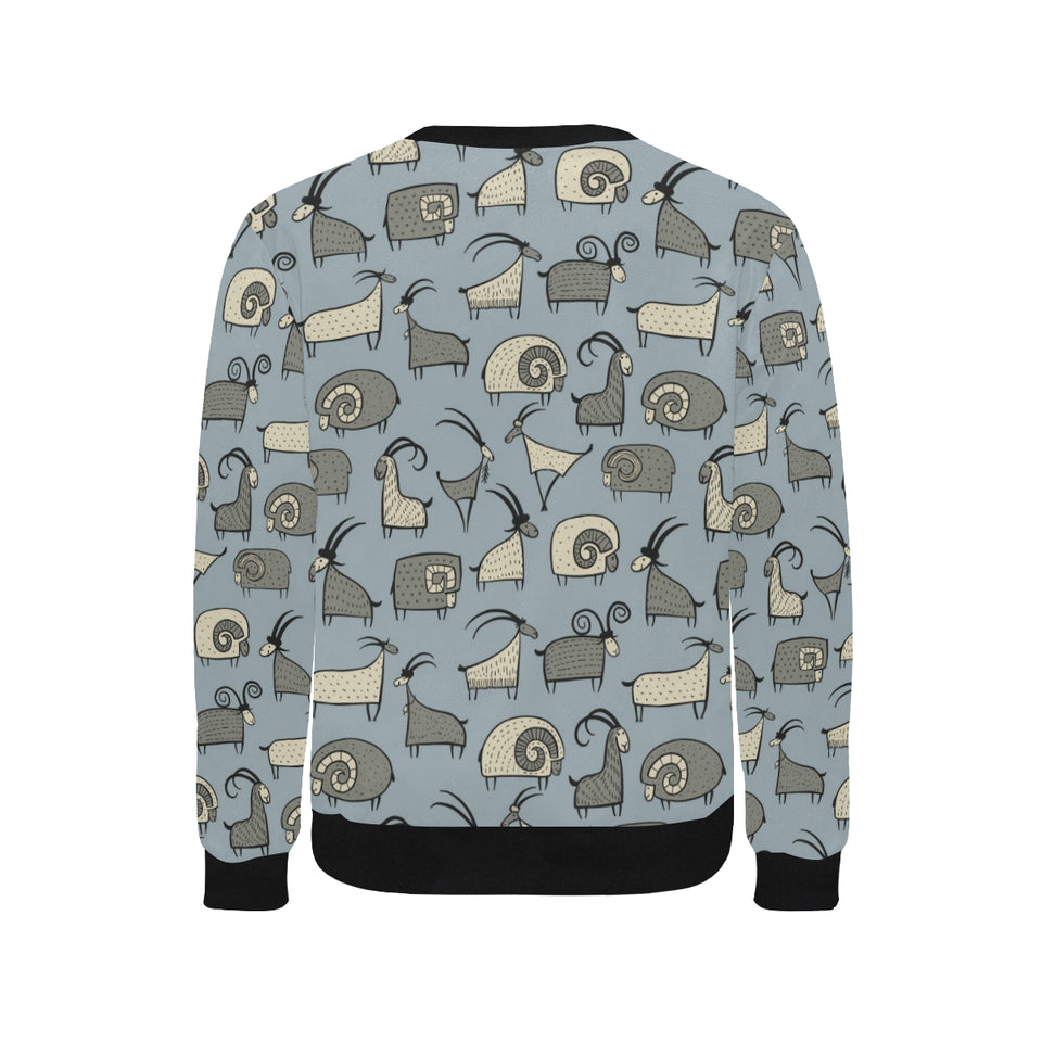 Goat Ram Pattern Men's Crew Neck Sweatshirt