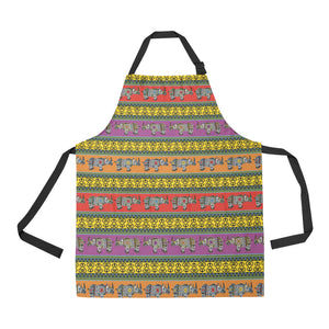 Rhino African Afro Dashiki Adinkra Kente Pattern E Adjustable Apron
