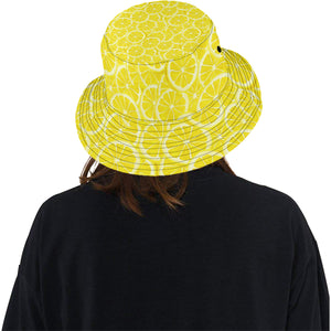Sliced Lemon Pattern Unisex Bucket Hat