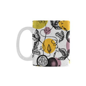 Passion Fruit Pattern Background Classical White Mug (FulFilled In US)
