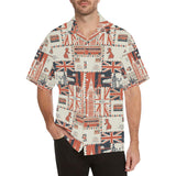 British Pattern Print Design 04 Men's All Over Print Hawaiian Shirt (Model T58)