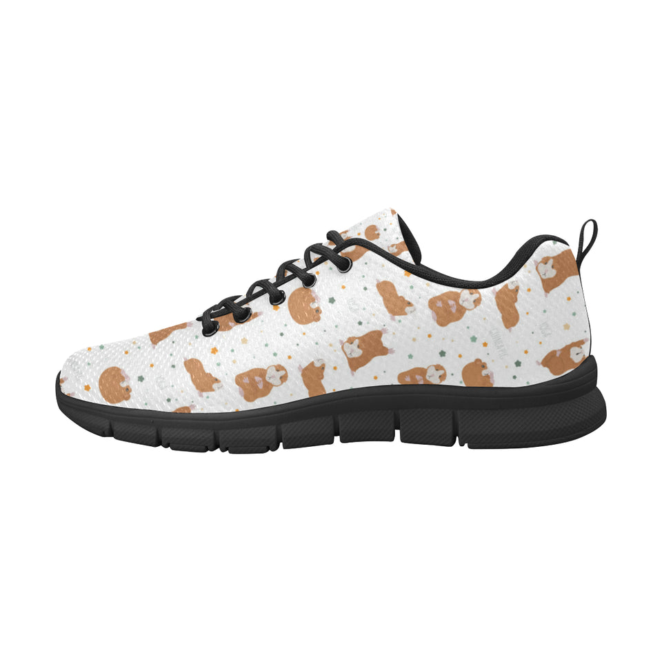 Guinea Pig Pattern Print Design 01 Women's Sneakers Black