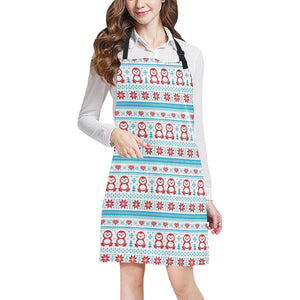 Penguin Sweater Printed Pattern Adjustable Apron