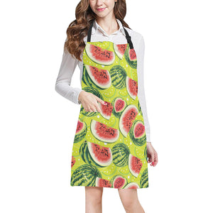 Watermelon Theme Pattern Adjustable Apron