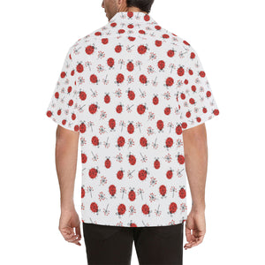 Ladybug Pattern Print Design 04 Men's All Over Print Hawaiian Shirt (Model T58)