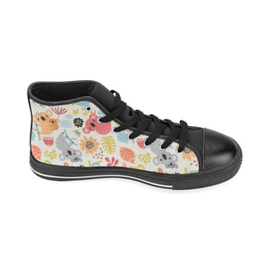 Cute Koala Pattern Women's High Top Shoes Black