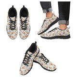 Yorkshire Terrier Pattern Print Design 05 Men's Sneakers Black