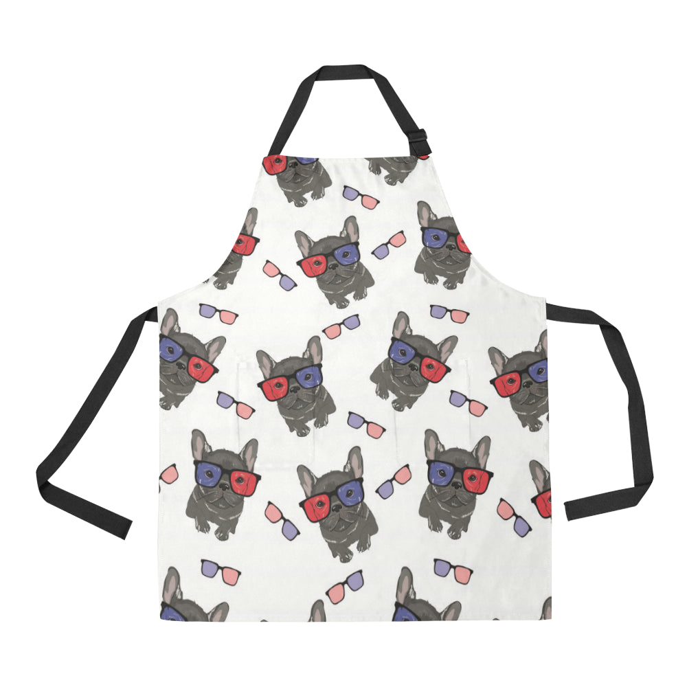French Bulldog Sunglass Pattern Adjustable Apron