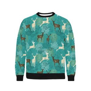 Deer Pattern Men's Crew Neck Sweatshirt