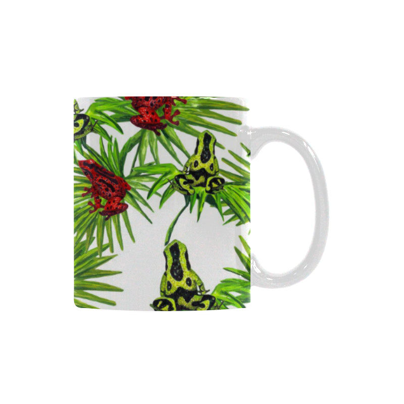 Green Red Frog Pattern Classical White Mug (FulFilled In US)