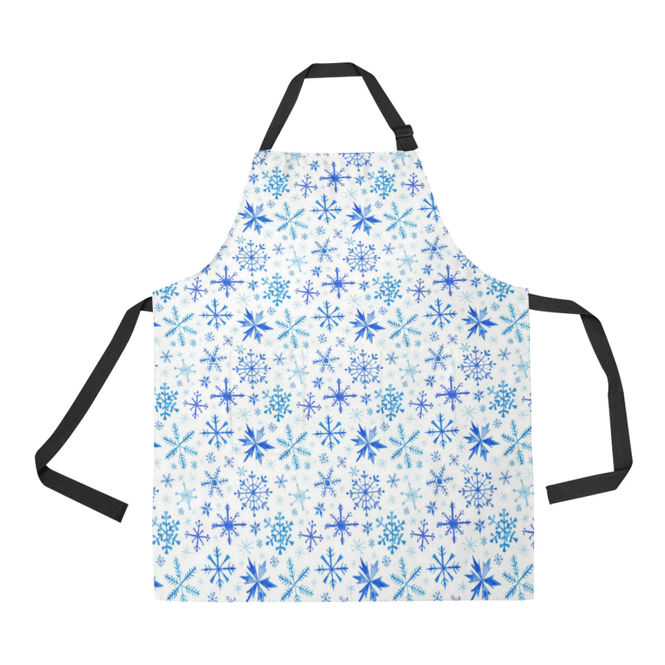 Blue Snowflake Pattern Adjustable Apron