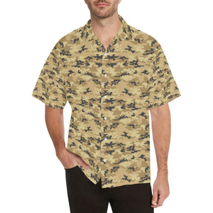 Sand Camo Camouflage Pattern Men's All Over Print Hawaiian Shirt