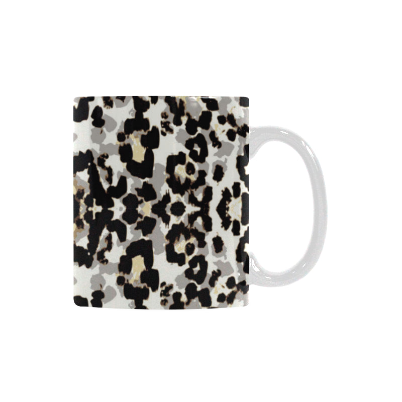 Leopard Skin Pattern Classical White Mug (FulFilled In US)