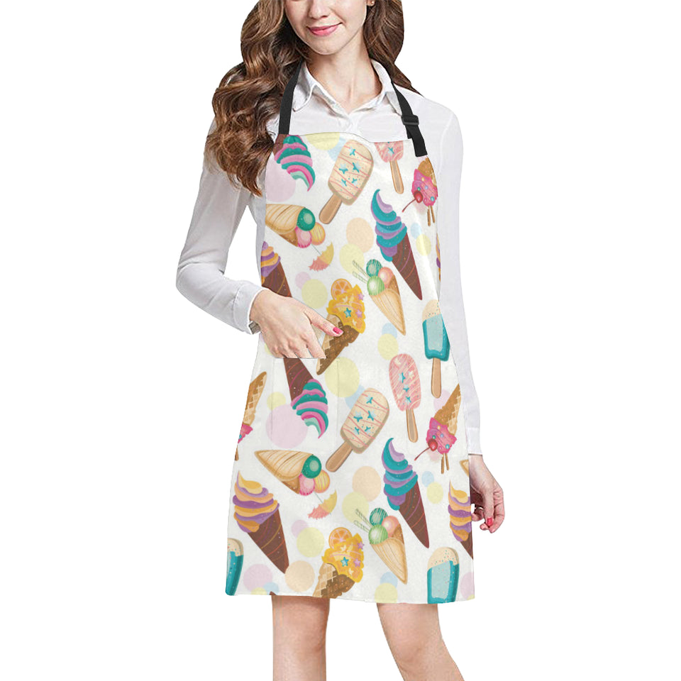 Colorful Ice Cream Pattern Adjustable Apron