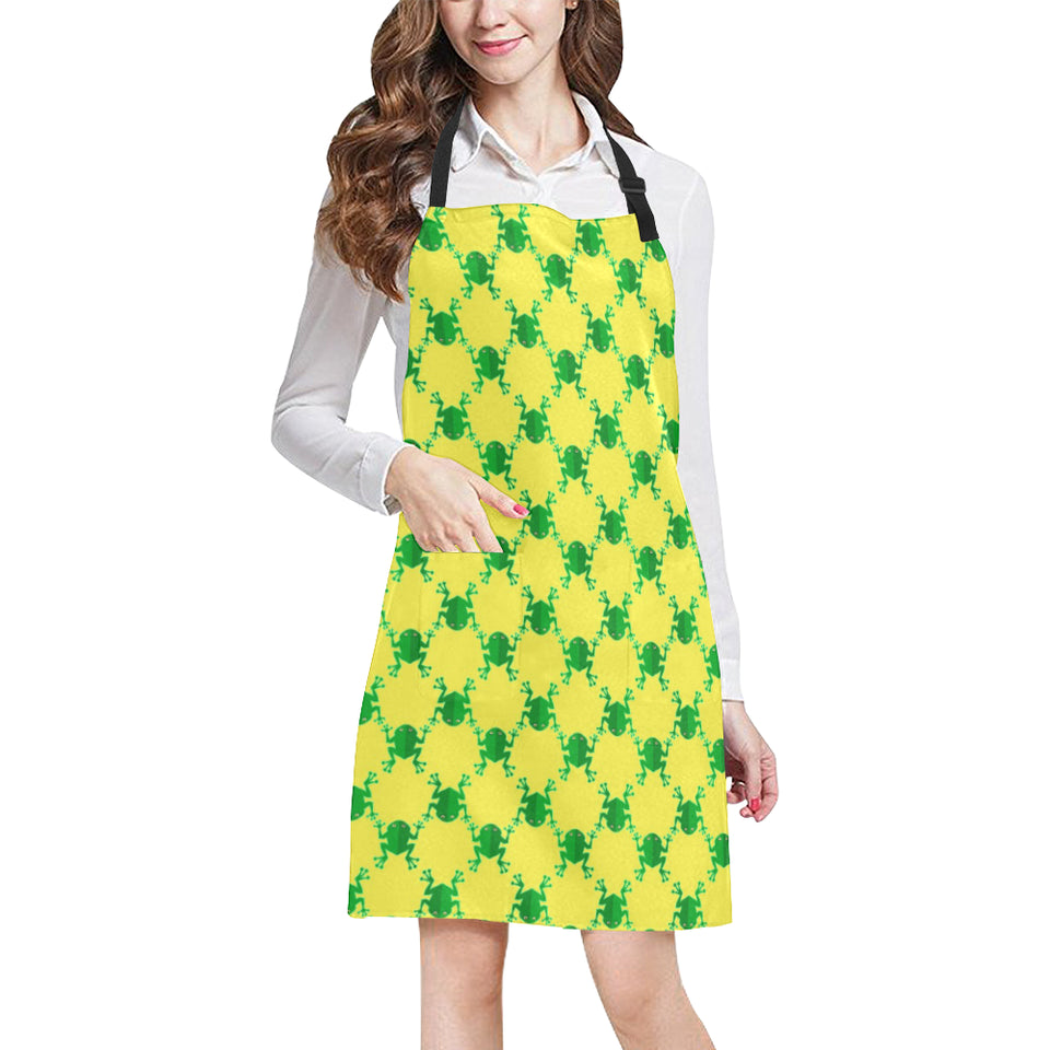 Frog Pattern Adjustable Apron