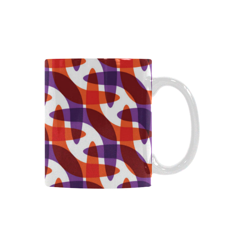 Boomerang Pattern Background Classical White Mug (FulFilled In US)
