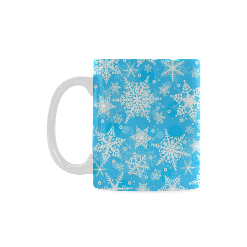 Snowflake Pattern Classical White Mug (FulFilled In US)