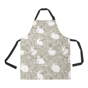 Cute Rabbit Pattern Adjustable Apron