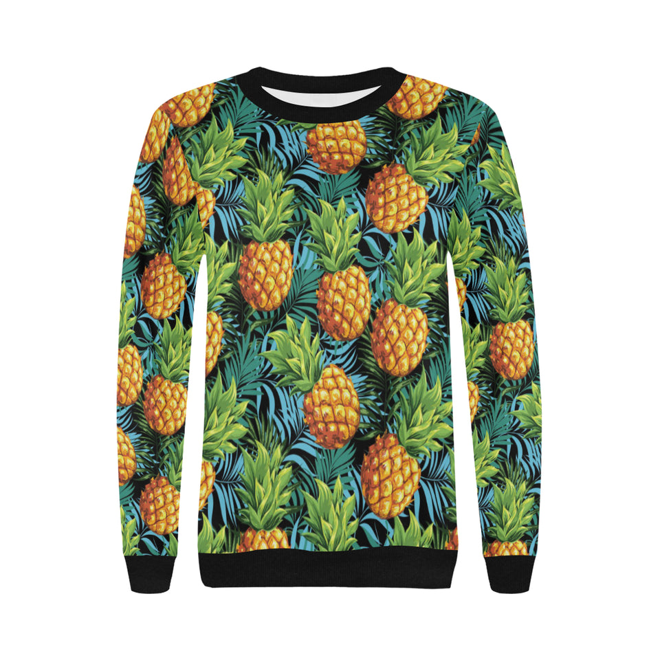 Pineapple Pattern Women's Crew Neck Sweatshirt