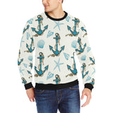 Anchor Shell Starfish Pattern Men's Crew Neck Sweatshirt