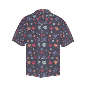 Dog Paws Pattern Print Design 04 Men's All Over Print Hawaiian Shirt (Model T58)