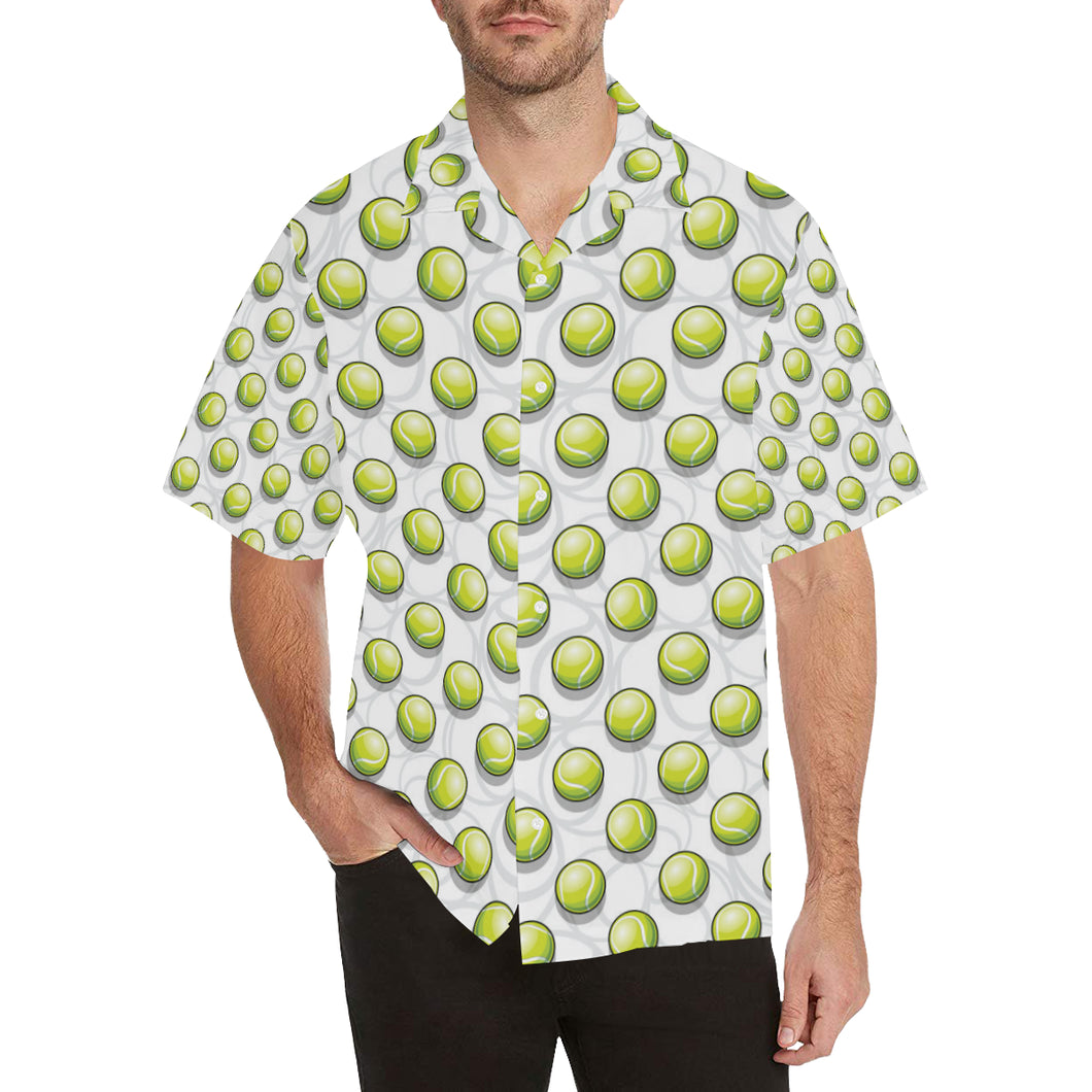 Tennis Pattern Print Design 05 Men's All Over Print Hawaiian Shirt (Model T58)
