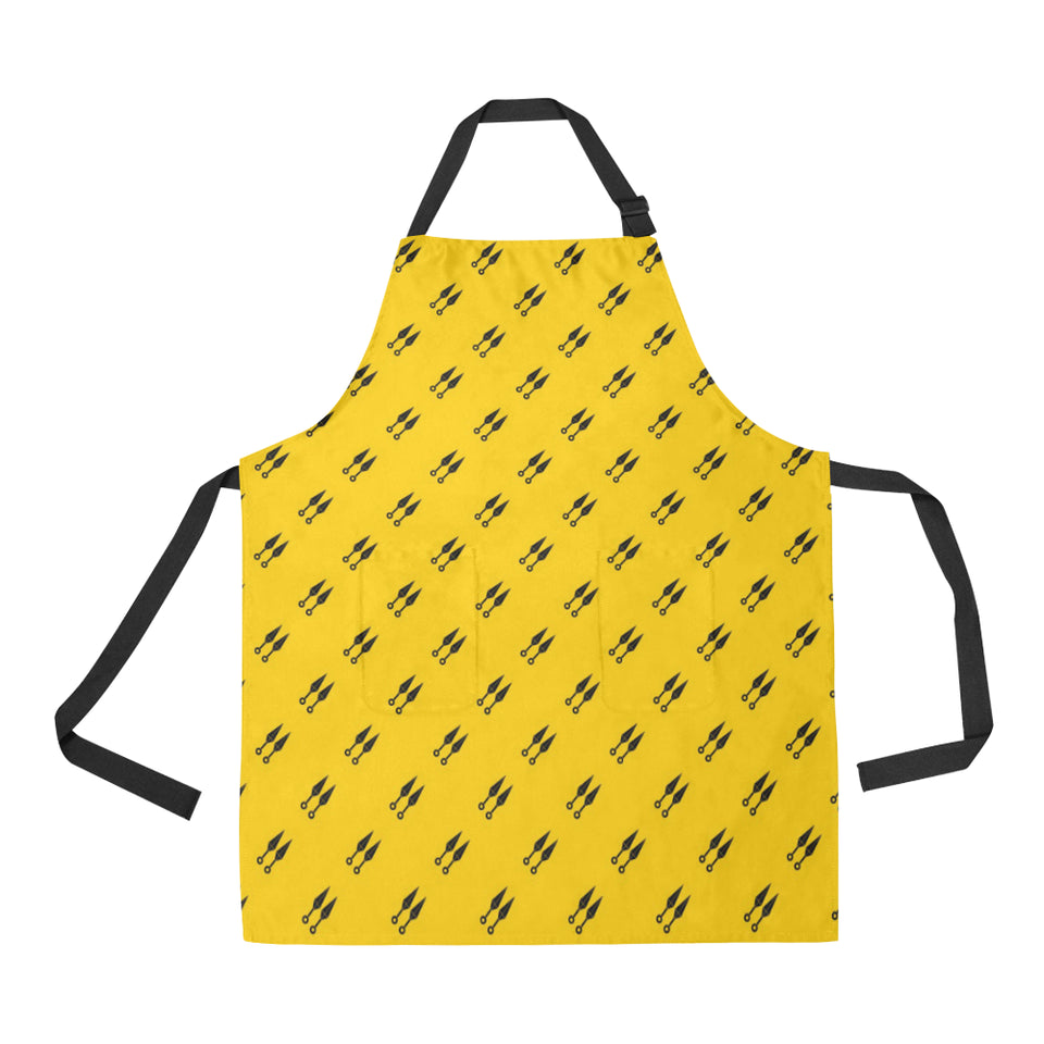 Ninja Weapon Pattern Adjustable Apron