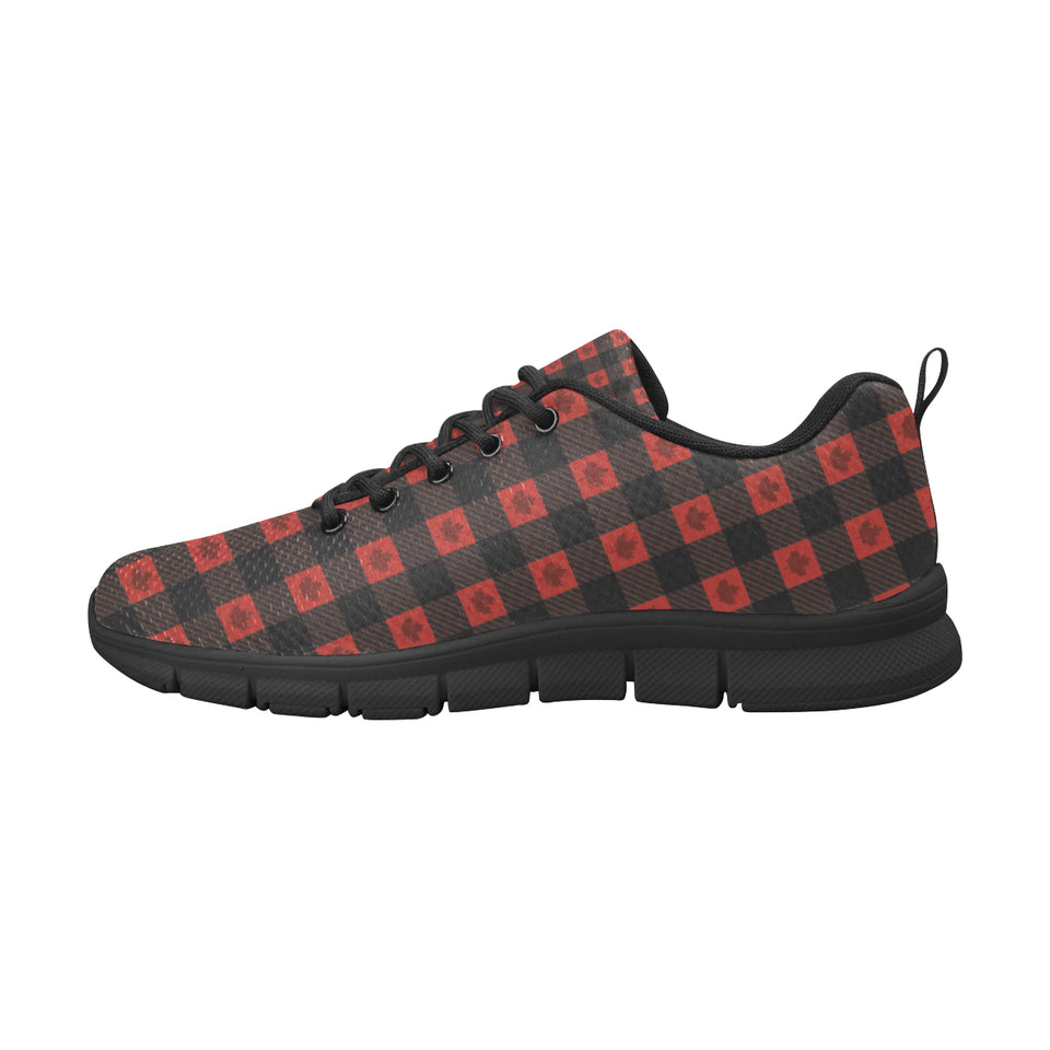 Canada Pattern Print Design 01 Women's Sneakers Black