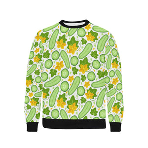 Cucumber Pattern Men's Crew Neck Sweatshirt