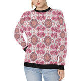 Indian Pattern Women's Crew Neck Sweatshirt