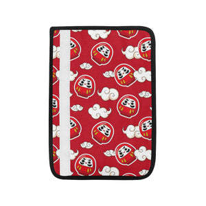 Red Daruma Cloud Pattern Car Seat Belt Cover