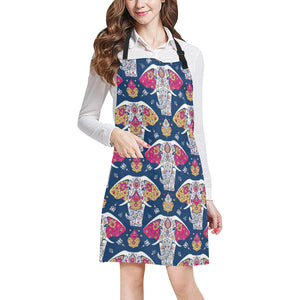 Elephant Pattern Adjustable Apron