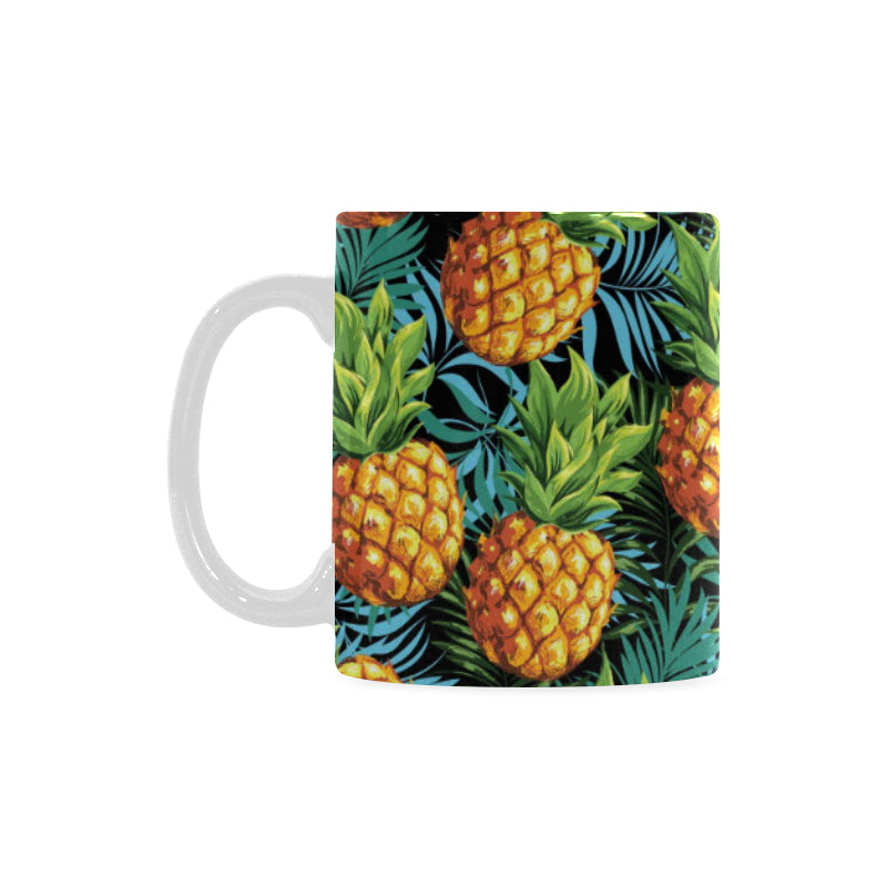 Pineapple Pattern Classical White Mug (FulFilled In US)