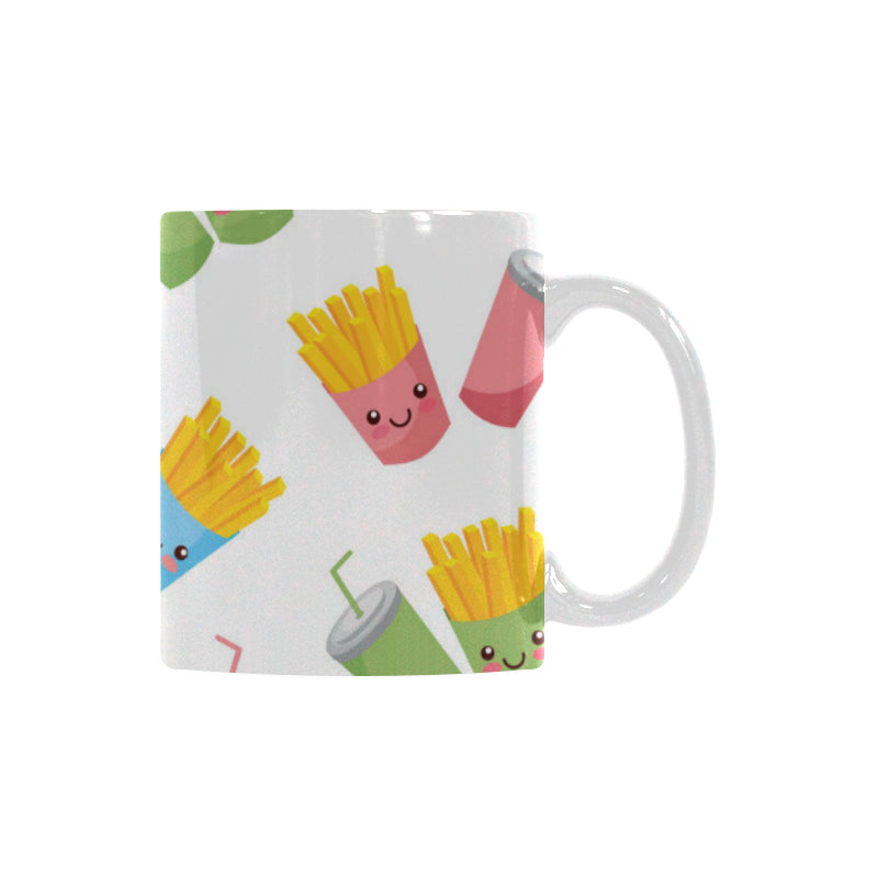 Colorful French Fries Pattern Classical White Mug (FulFilled In US)