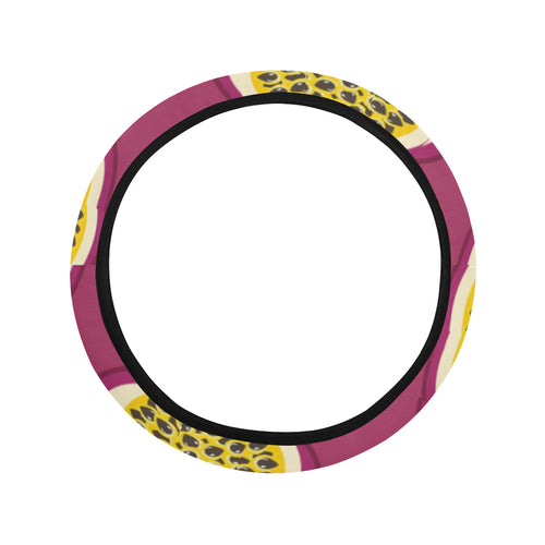 Sliced Passion Fruit Pattern Car Steering Wheel Cover